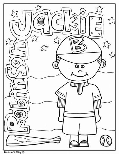 History Month Coloring Doodles Activities Printables Jackie