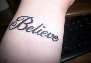 30 Believe Tattoos Which Look Overwhelming | CreativeFan