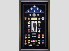 Custom Flag Display Case For Faming Military Memorabilia