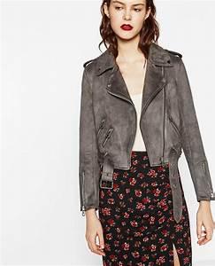 Veste En Daim Grise : veste daim noir zara les vestes la mode sont populaires partout dans le monde ~ Melissatoandfro.com Idées de Décoration