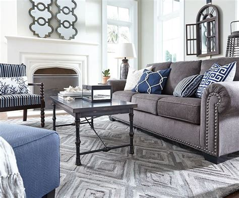Decorating Ideas Grey Sofa by The Gorgeously Luxe Look Of The Navasota Sofa I M
