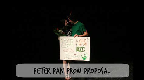 peter pan prom proposal youtube