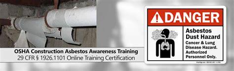 osha construction asbestos awareness training