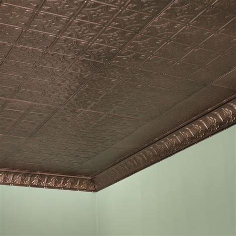 Penny tiles are very small tiles, usually about.75 inches to 1 inch (1.9 to 2.54 cm) across. Great Lakes Tin Hamilton - 2' x 2' Tin Nail-Up Ceiling Tile at Menards®