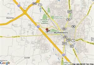 Murfreesboro TN On Map