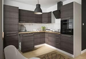 Küchen L Form Modern : k chenblock l form 270x242cm grau fino schwarz k che komplett modern k chenzeile tytan front ~ Watch28wear.com Haus und Dekorationen