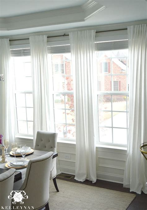 White Drapes In Living Room by Ikea Ritva Curtain Panels In Dining Room Window