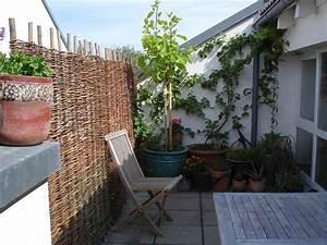 Weidenflechtmatten sichtschutzmatten balkon for Garten planen mit wind und sichtschutz balkon