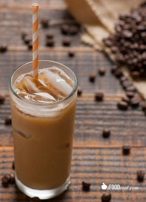 Ingredients ice , brewed coffee , classic syrup sugar, water, natural flavors, potassium sorbate, citric acid Healthy Iced Coffee Recipe with almond milk, sugar free ...