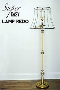 repurpose recycle reuse all things gd With brass floor lamp redo