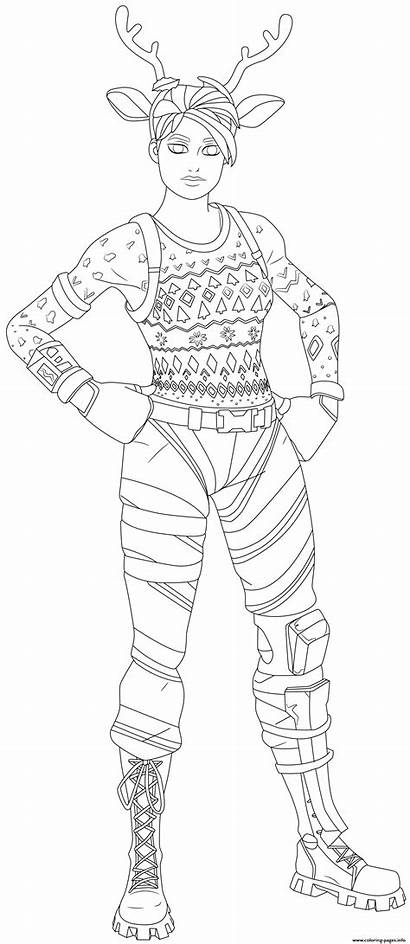 Raider Nose Skin Coloring Pages Coloriage Forntite
