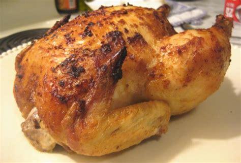 whole baked chicken basic whole roasted chicken recipe dishmaps