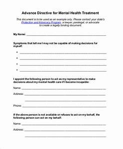 sample advance directive form 8 examples in pdf With advanced directive template