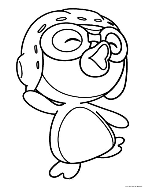 Printable pororo the little penguin coloring pages for
