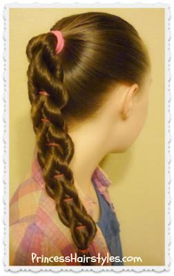 twisted pull  braid hairstyle hairstyles