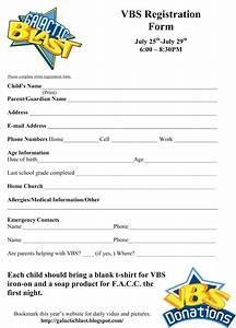 sample workshop registration form template - shake it up cafe vbs registration form