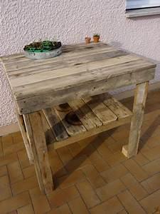 Desserte de salon de jardin en palette bois for Deco cuisine pour salon de jardin