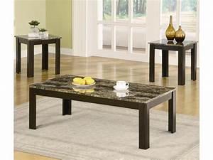 Coaster living room 3 pack table set 700375 ernies in for Table sets for living room