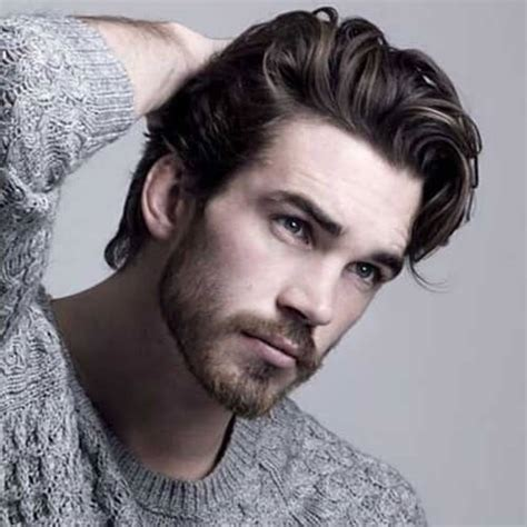 thick hair    ways  style   men