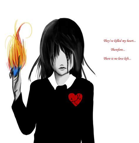 suffering broken heart  phantomsilence  deviantart