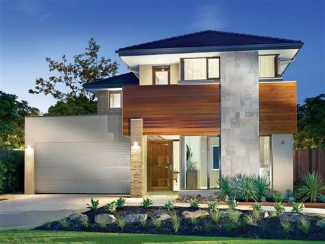 concrete modern house exterior with balcony feature lighting house facade photo 1524676