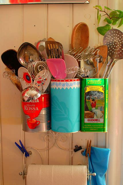 ideas  recycle tin cans  handy organizers shelterness