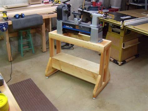 lathe stand shop ideas   diy lathe wood turning