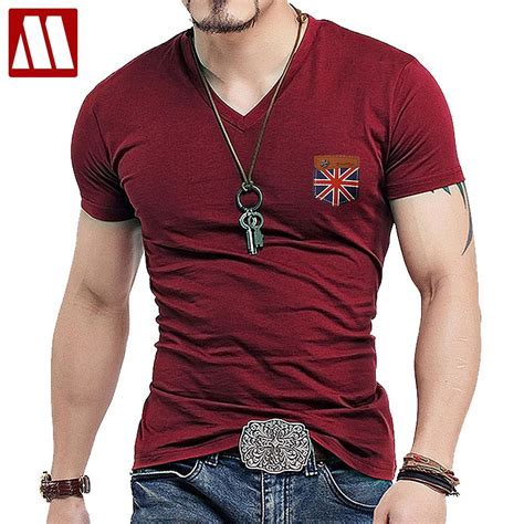 mens fashion uk union flag sleeve t shirt
