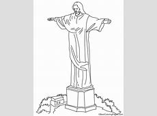 Christ the redeemer coloring page Download Free Christ
