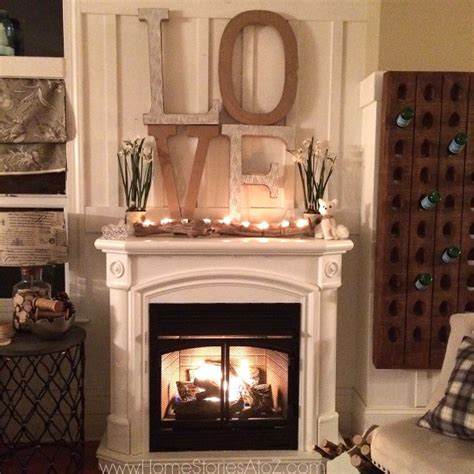 decorate  mantel  christmas home stories