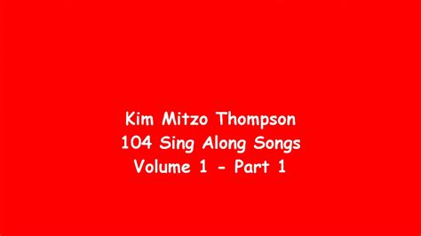 104 Sing Along Songs Volume One (part