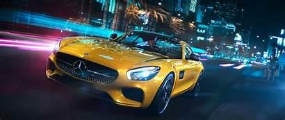 Mercedes Benz Yellow Amg Gt Luxury Wide