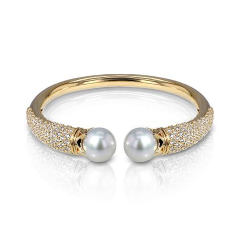 pearl bangle bracelet jewelry designs