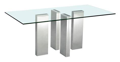 canapé buffle table de salle à manger brick en verre trempé et acier