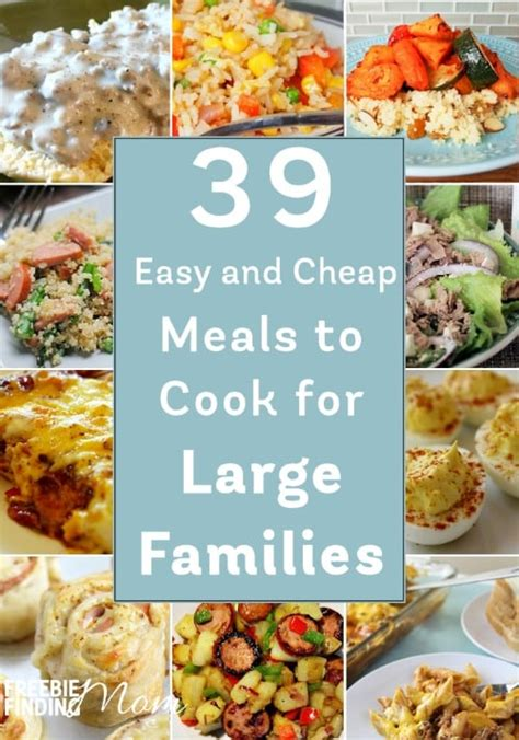 easy  cheap meals  cook  large families