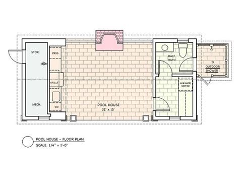 house plans with pool house guest house floor plans pool house htons pool