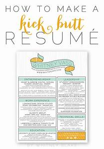 how to make a kick butt resume whitney blake With how to make a creative resume