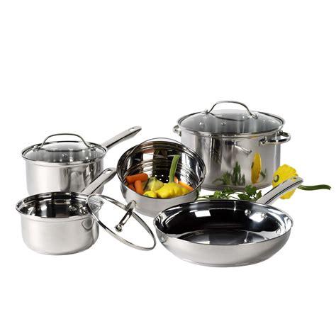 cookware steel stainless basic essentials piece