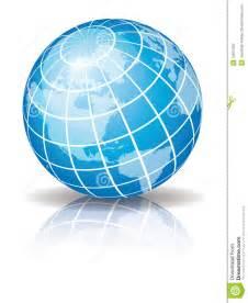 White Blue Logo Globe with Latitudes