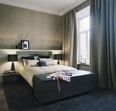 classic bedroom decorating ideas  dark color  calm