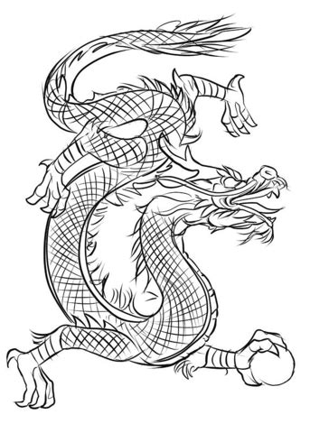 asian dragon coloring page  printable coloring pages