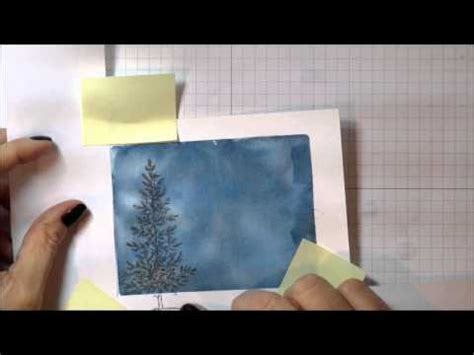 youtube watercolor christmas cards tutorials lovely as a tree watercolor card