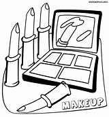Makeup Lipstick Print Coloring Pages Sheet Kleurplaat Robinson Jackie Clipartmag Drawing sketch template