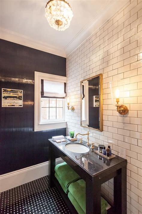 black basket weave bathroom floor design ideas