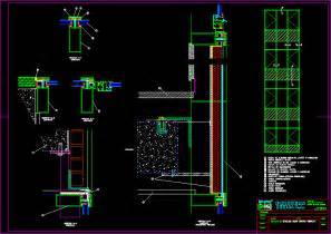 Unitized Curtain Wall Glazing by Curtain Wall Details Dwg