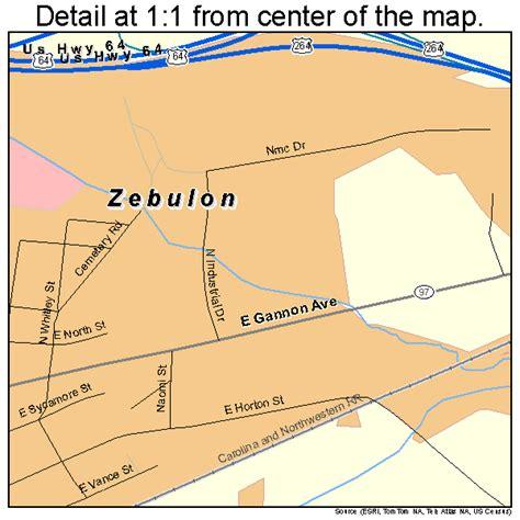 Zebulon North Carolina Street Map 3776220