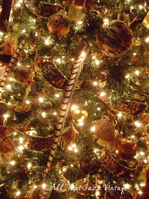 leopard christmas decorations christmas pinterest