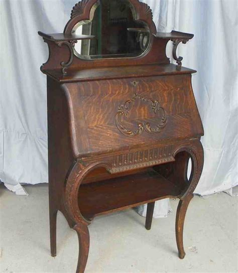 Antique Oak Secretary Desk  Home Furniture Design