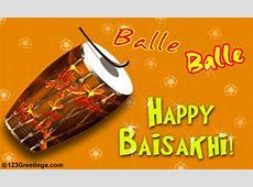 Balle, Balle Free Baisakhi eCards, Greeting Cards 123