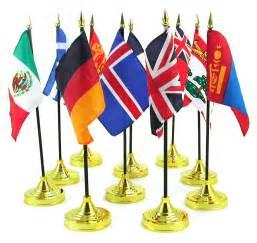 International (World) Stick Flags 4 x 6 inch